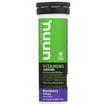 Nuun Vitamin Caff Blckbry Citrus, Case of 8 X 12 TB