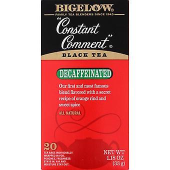 Bigelow Tea Constnt Cmmnt Decaf 20Bg, Case of 6 X 1.18 Oz