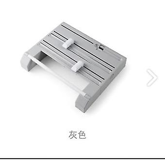 Refillable Plastic Wrap Dispenser Film Cutter,  Six In One Plastic Wrap Cutter Roll Paper(Grey)
