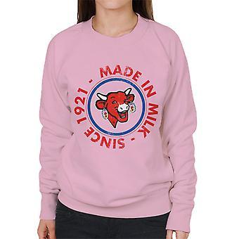 Den grinende ko lavet i mælk kvinders sweatshirt