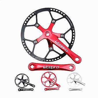 Fiets crankset geïntegreerde enkele kettingwiel crank 45t 47t 53t 56t 58t bcd 130mm voor het vouwen van fietsonderdelen
