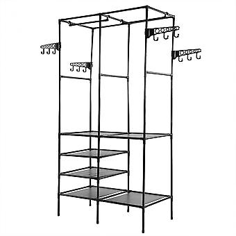 Metal Clothes Rail Rack Stand With Shoe Storage