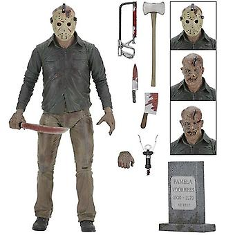 """Friday the 13th Freddy vs Jason 7"""" Action Figure Ultimate Voorhees Model Toy"""