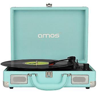 Tocadiscos de maleta de AMOS (cielo azul)