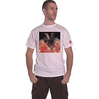 The Rolling Stones T Shirt Goats Head Soup Band Logo uusi virallinen valkoinen
