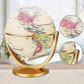 Vintage Pedestal English Edition Globe World Map Earth With Gold Base