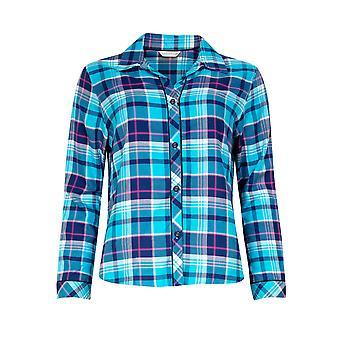 Cyberjammies Charlotte 4969 Women's Blue Check Pyjama Top