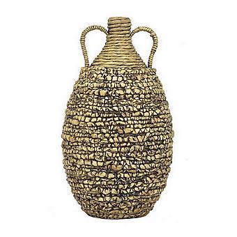 Plutus Brands Hyacinth Vase in Brown Natural Fiber - PBTH93101