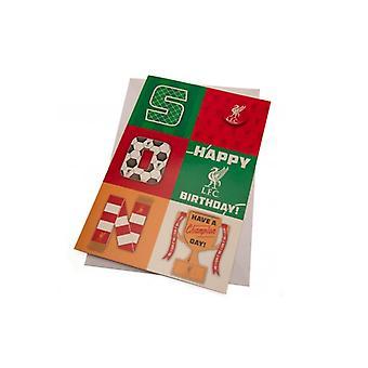 Filho do cartão de aniversário do Liverpool FC