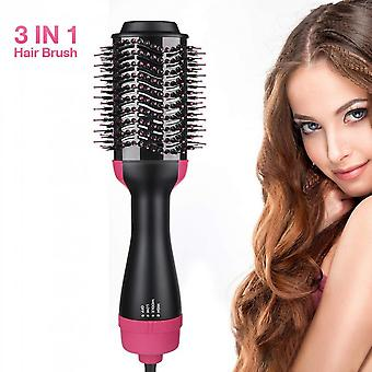 3 In 1 Hair Dryer Hot Air Brush Styler And Volumizer Hair Straightener Curler Comb Roller One Step Electric Ion Blow Dryer Brush