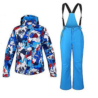 防水冬のスキージャケットとパンツ