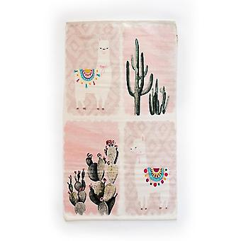 Rugs spura home light pink cactus llama contemporary 3x5 novelty area rug for bedroom