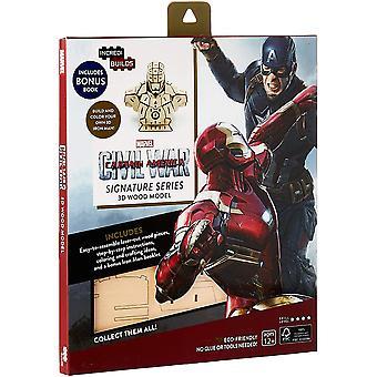 IncrediBuilds Marvel Captain Marvel Civil War 3D Wood Model and Book