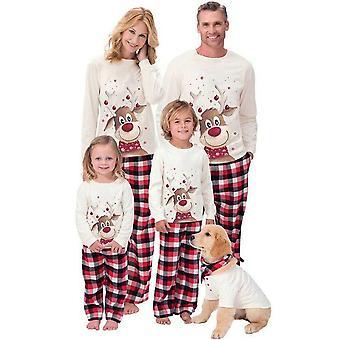Weihnachten Familie Matching Mama Papa Kinder Baby Pyjama Set Nachtwäsche Pjs
