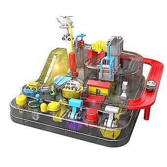 Qian Transparent Rail Car Adventure Children's Rail Car Puzzle Boy Car Toy