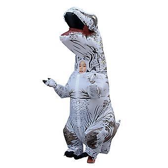 White Children Tyrannosaurus Rex Inflatable Clothing Children's Dinosaur Costume