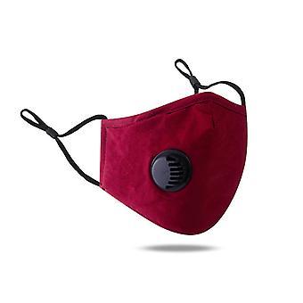 100% pamut maszk, újrafelhasználható, állítható, lélegző és háromdimenziós védelem, piros