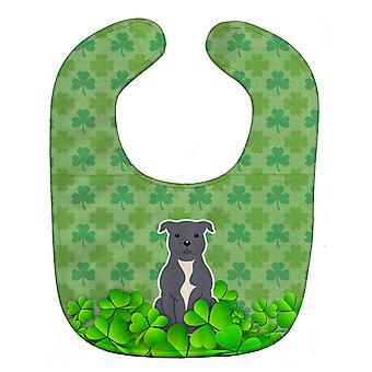 مريلة بيبي أوراق الشجر الأزرق ستافوردشاير بول الكلب
