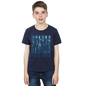 DC Comics Boys Justice League Movie Double Indigo T-Shirt