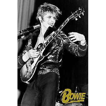 David Bowie Guitar Poster Poster Print