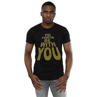 Star Wars masculino pode a força com t-shirt