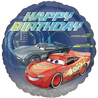 جناس ديزني السيارات 3 بوصة 18 عيد ميلاد سعيد دائرة إحباط بالون