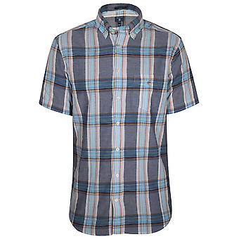 GANT Persisch blau Check Regelmäßige Kurzarm Shirt