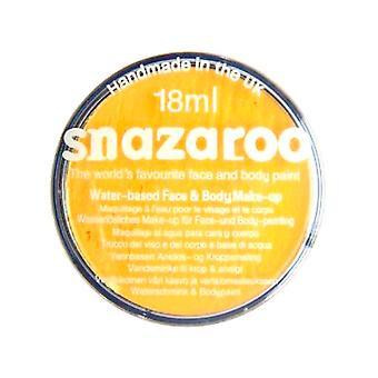 Snazaroo Gesicht und Body Paint - hellgelb - Wasser Basis 18ml