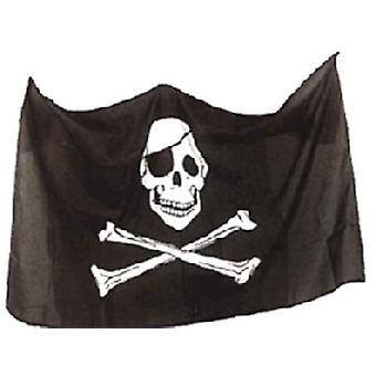 Пиратский флаг череп и скрещенные кости 3 футов x 2 футов (100% поли) с петельками