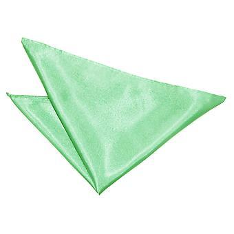 Mint grøn almindelig Satin Pocket Square
