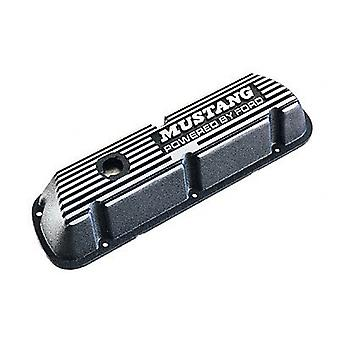 Ford Racing M6582B301 Valve Cover Mustang For 289/302/351W Engine, Black With Mustang Powered By Ford Logo