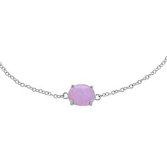 Bracelet classique ovale en pierre simple kunzite en 925 Sterling Silver 270L010602925