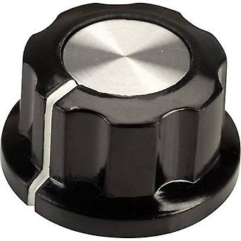 SCI RN-99E(6.4mm) Control knob Black, White (Ø x H) 22.9 mm x 12.7 mm 1 pc(s)