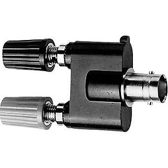 Telegärtner J01008A0621 Test-Leadadapter BNC-Buchse - 4 mm Buchse, 4 mm Buchse Schwarz, Rot