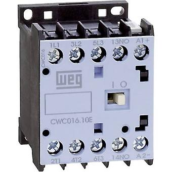 WEG CWC07-10-30C03 Contactor 1 pc(s) 3 makers 3 kW 24 V DC 7 A + auxiliary contact
