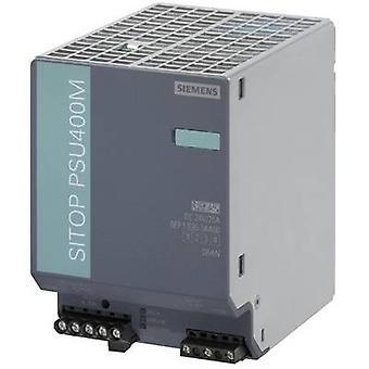 Siemens SITOP PSU400M 24 V/20 A Rail mounted PSU (DIN) 24 V DC 20 A 480 W 1 x
