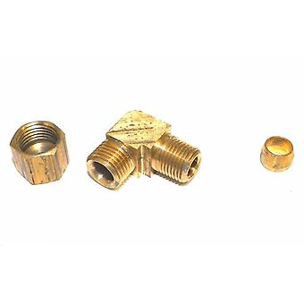 "Big A Service Line 3-16942 Brass 90 deg Street Elbow Fitting 1/4"" x 1/8"""