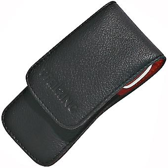 Manicure case Black nappa leather black nail Necessaire