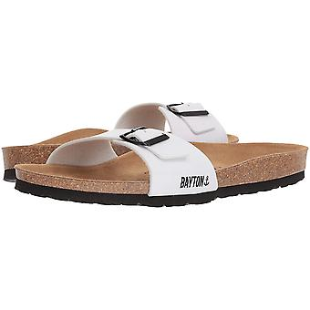 Bayton Mens zephyr Leather Slip On Open Toe Slides