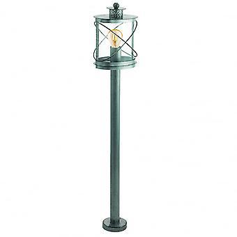 Eglo Hilburn Traditional Round Antique Silver Lantern Pillar Light