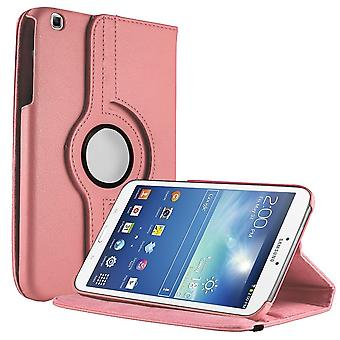 Unlimited Cellular Multi-Angle 360 Stand Folio Case for Samsung Galaxy Tab 3 (8.0) - Pink