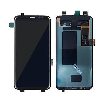 الاشياء المعتمدة® سامسونج غالاكسي S8 الشاشة (شاشة تعمل باللمس + AMOLED + أجزاء) A + الجودة - أسود
