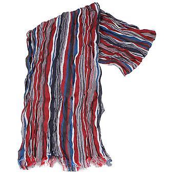 Knightsbridge Neckwear Striped Cotton Scarf - Red/Blue/White
