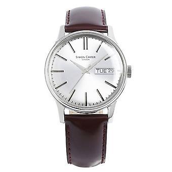 Simon Carter Watch - braun/Silber