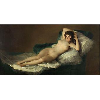 The Maja Nude, Francisco de Goya y Lucientes, 80x40cm