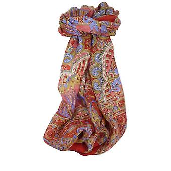 Classic Paisley Long Scarf Mulberry Silk Anya Scarlet by Pashmina & Silk