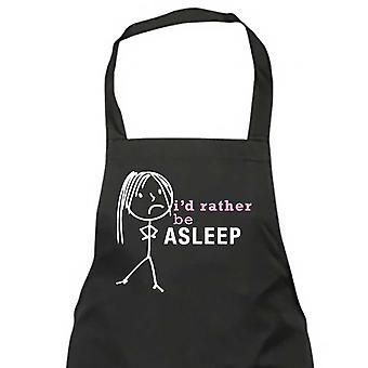 Ladies I'd Rather Be Asleep Apron