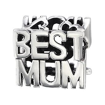 Beste Mama - 925 Sterling Silber Plain Beads - W6404X