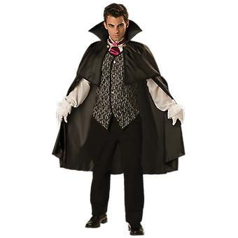 Mens Midnight Vampire Dracula Film Halloween Fancy Dress Costume