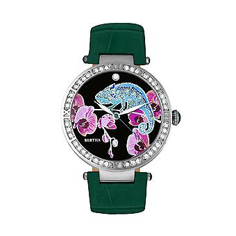 Bertha Camilla Mother-Of-Pearl Leather-Band Watch - Teal